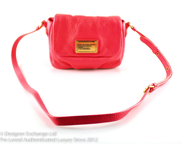 Marc By Marc Jacobs Coral Leather Flap Over Crossbody GH