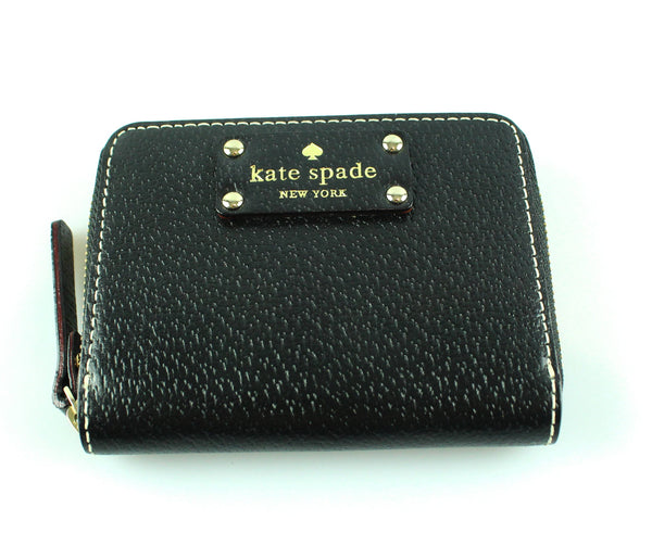 Kate Spade Black Zip Around Coin/Card Purse