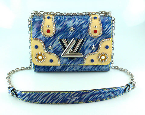 Louis Vuitton Ltd Edition Denim Twist MM Epi Leather & Studs FL2107