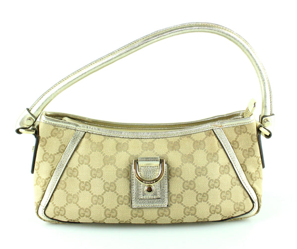 Gucci GG Abbey Small Shoulder Bag With Gold Trim