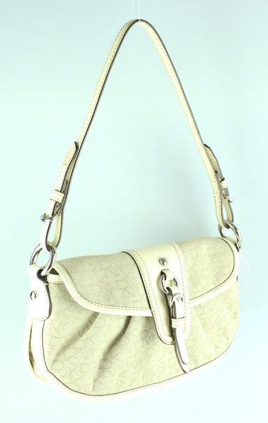 DKNY Monogram Small Cream Shoulder Bag GH