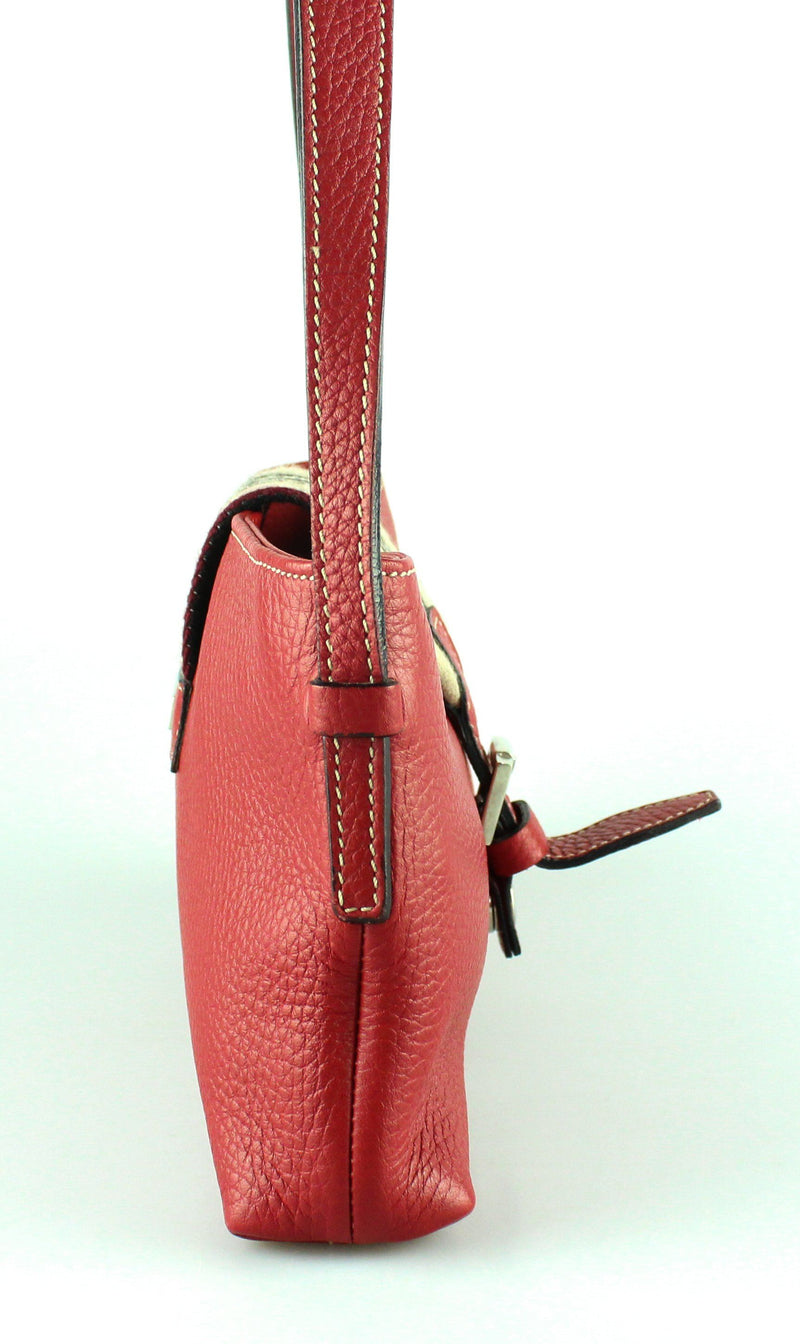 Burberry Red Leather Buckle Small Shoulder Bag