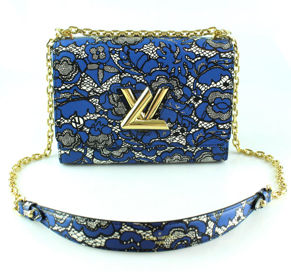 Louis Vuitton Ltd Edition Twist MM Leather Lace Embossed FL1177
