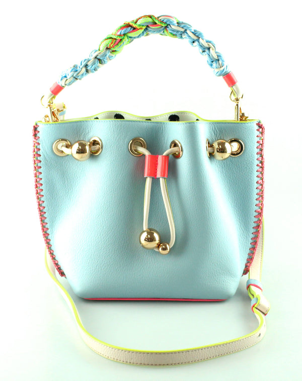 Sophia Webster Blue Leather Romy Bucket Bag