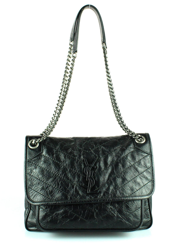 Saint Laurent Black Vintage Leather Medium Niki (RRP €1890)
