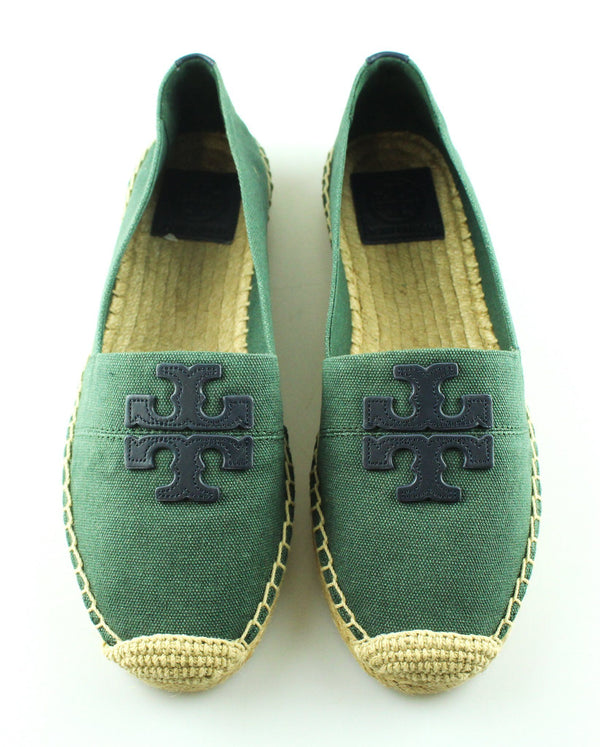 Tory Burch Green Canvas Espadrilles UK 5.5 (US 8)