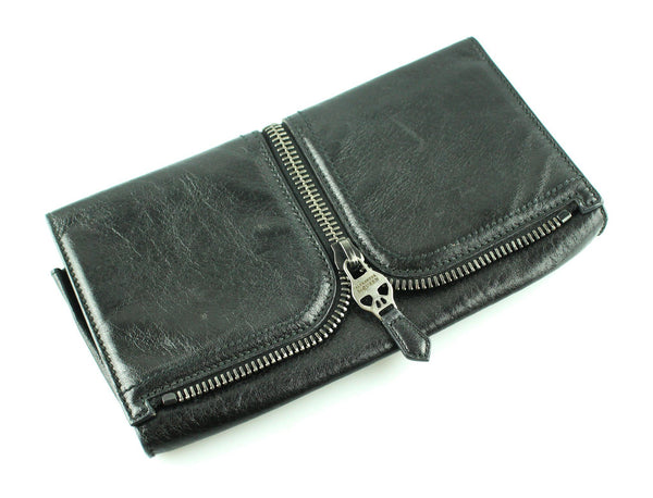Alexander McQueen Black Zip Detail Clutch