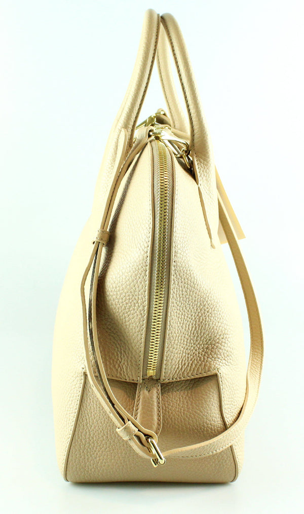 Burberry Beige Leather Tote With Shoulder Strap GH