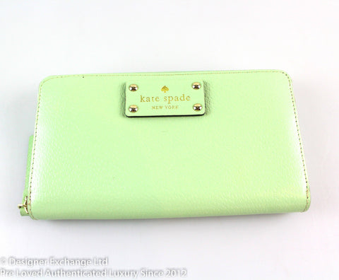 Kate Spade Mint Large Zip Around Wallet