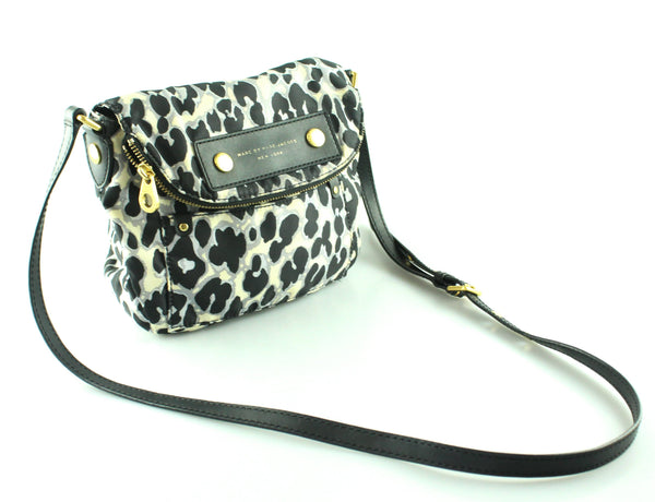 Marc By Marc Jacobs Nylon Leopard Flap Messenger