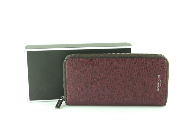 Michael Kors Warren Tech Zip Wallet Raisin