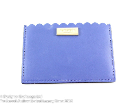 Kate Spade Blue Scalloped Card Holder
