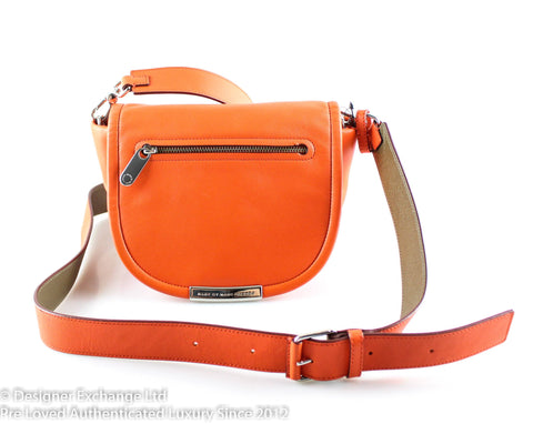 Marc By Marc Jacobs Orange Glow Saddle Bag