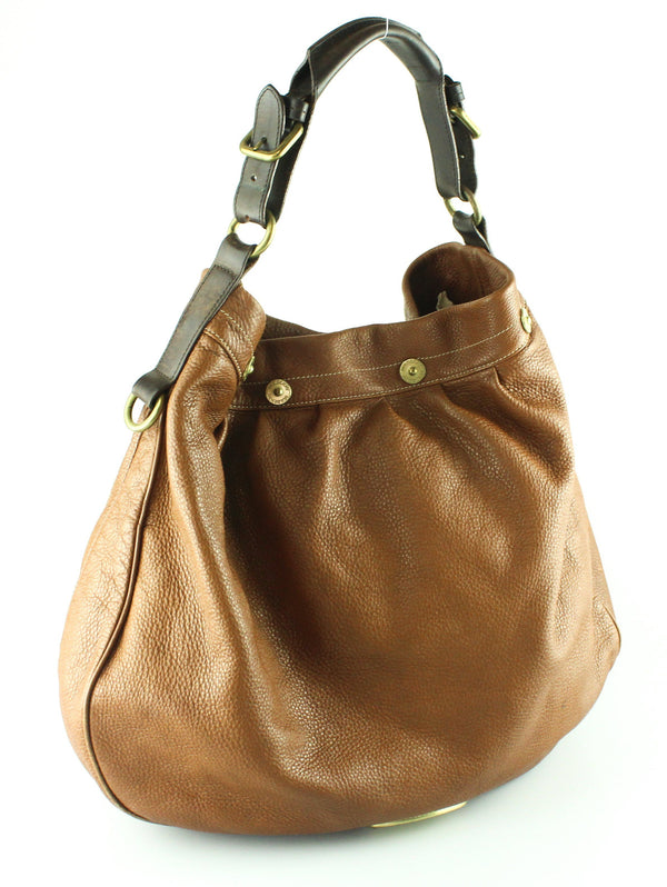 Mulberry Brown Spongy Leather Mitzy Hobo Well Used