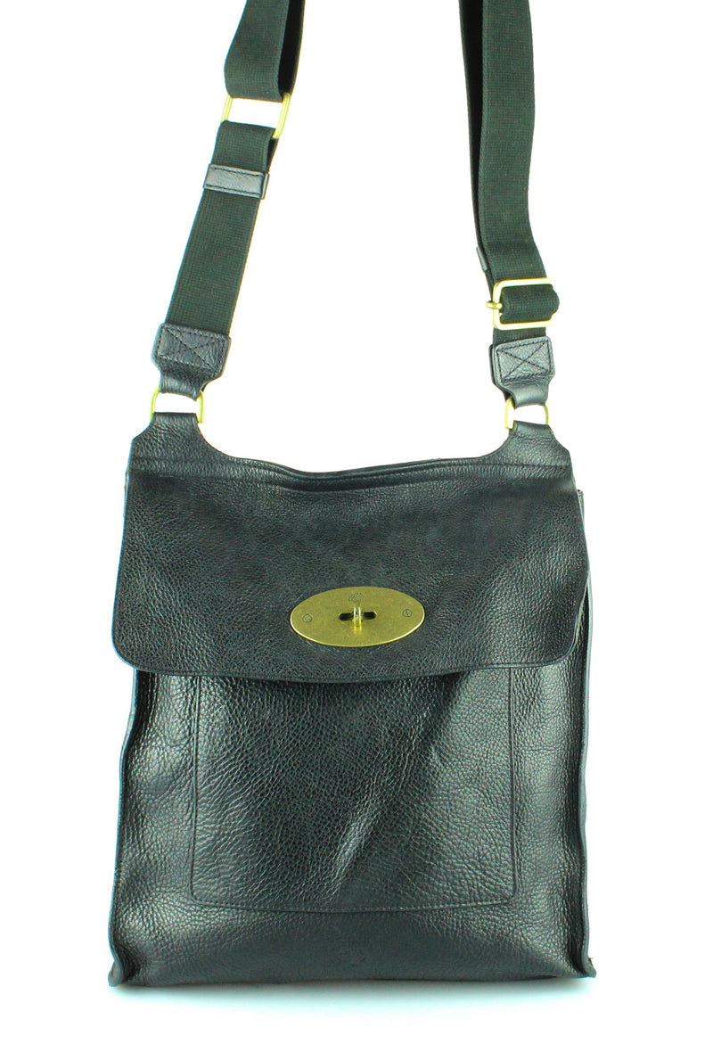 Mulberry Black Grained Leather Large Antony GH RRP €750