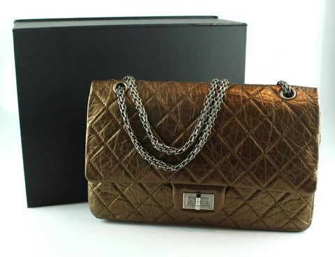 Chanel Bronze Metallic Calfskin 2.55 Reissue 227 GMH 2008/09