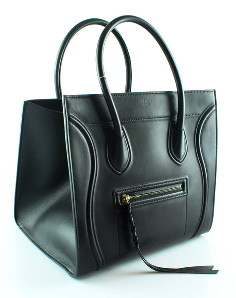 Celine Black Smooth Calfskin Phantom Luggage Tote GH RRP €2400 ... 7cfd97a9d6c8d