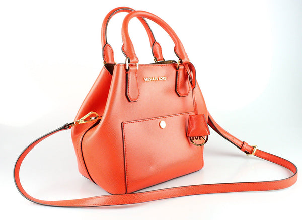 Michael Kors Deep Orange Saffiano Greenwich Tote GH