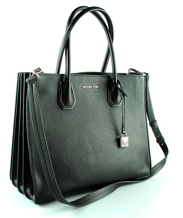 Michael Kors Black Grained Leather Mercer Tote SH (2)