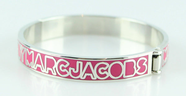 Marc By Marc Jacobs Pink/Silver Monogram Bangle