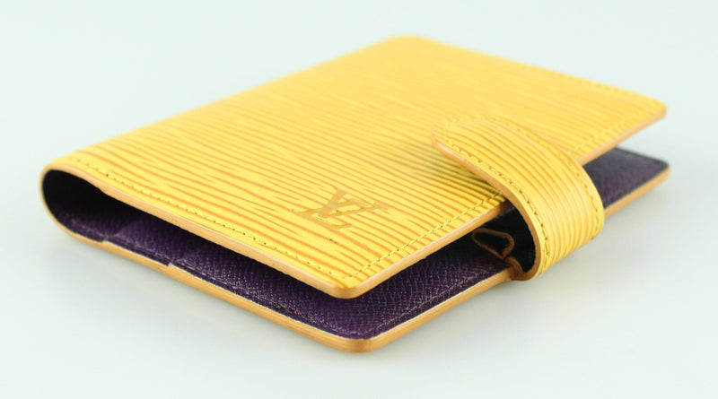 Louis Vuitton Mini Agenda Cover Tassil Yellow Epi Leather TH1918