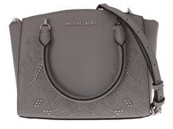 Michael Kors Grey Ellis Leather Satchel Bag