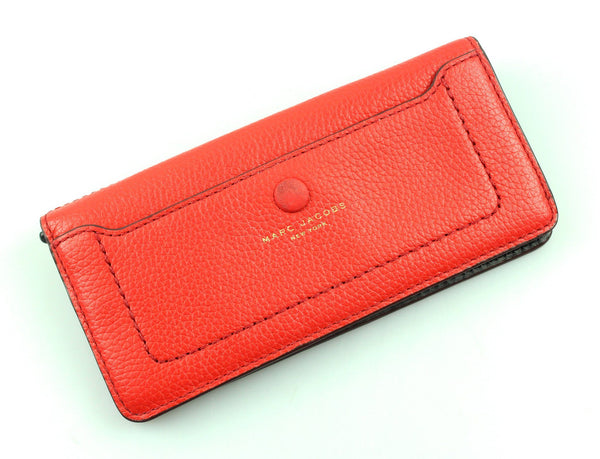 Marc Jacobs Rosey Red Button Down Flap Wallet