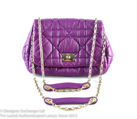 Christian Dior Milly La Foret Small Bubble Bag Purple GH