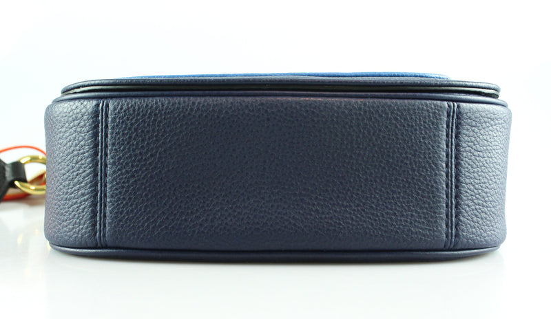 Marc Jacobs Empire City Blue Mini Leather Messenger