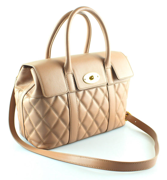 Mulberry Rosewater Quilted Smooth Calfskin Small Bayswater Satchel (sbs)