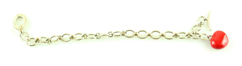 Links Of London 925 Heart Pendant Toggle Bracelet