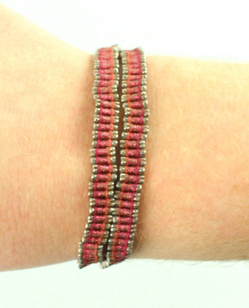Links Of London Friendship Bracelet 925 Metallic Pink