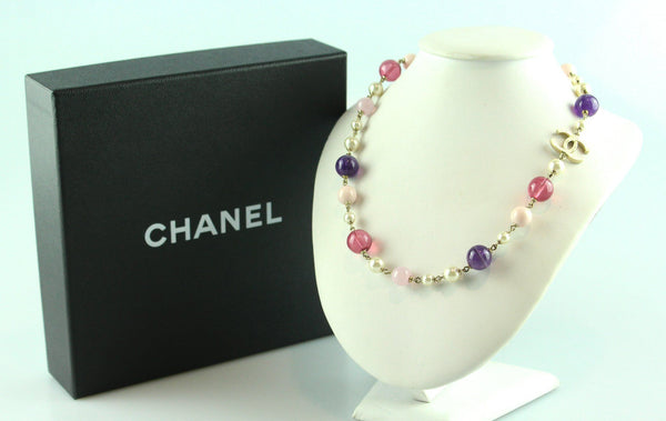 Chanel 2010P Multicoloured Bead And Costume Pearl Necklace