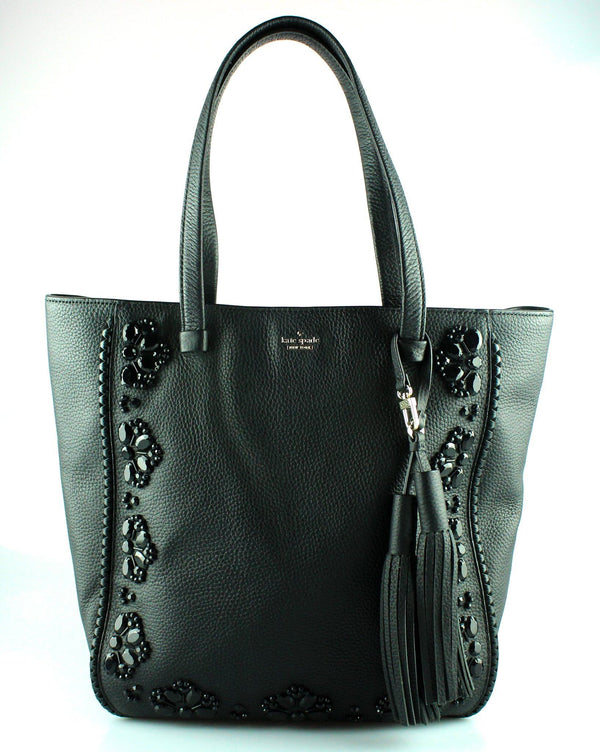 Kate Spade Black Grained Leather Anderson Way Dorna