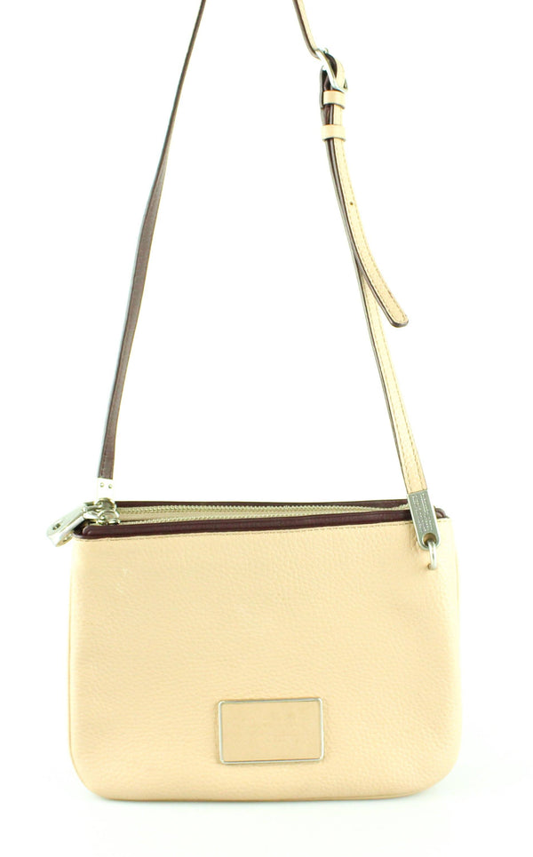 Marc By Marc Jacobs Beige Ligero Double Percy Cross Body