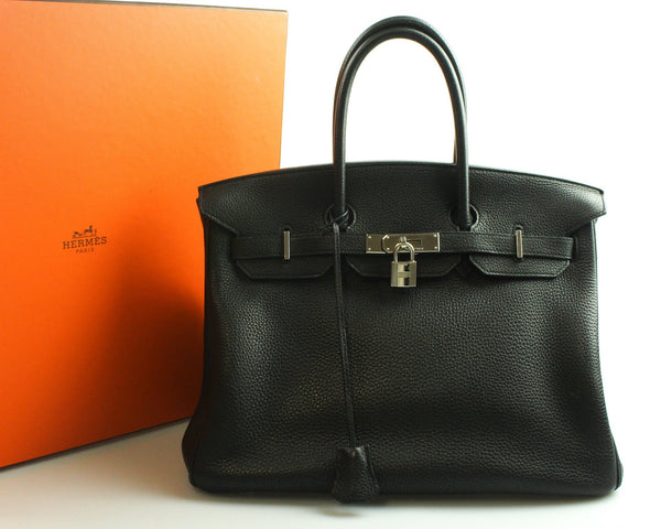 Hermes Birkin 35cm Black Togo Leather 2010 Palladium Hardware