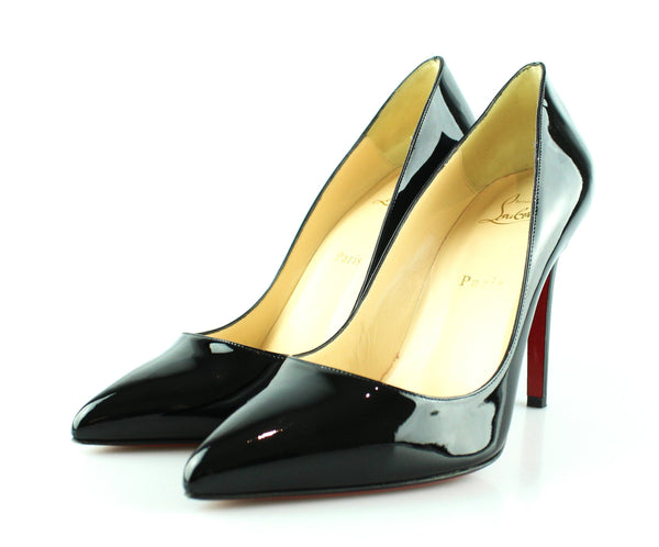 brand new e94a9 287fc Christian Louboutin Black Patent Pigalle Pumps 39/6