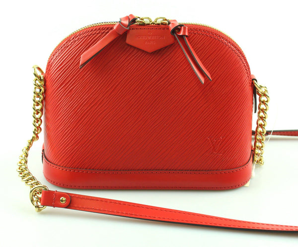 Louis Vuitton Alma Mini Epi Leather Coquelicot SN3138