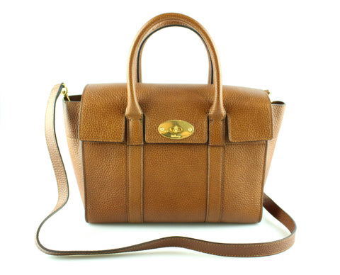 d740bd7266cf78 Mulberry Small Bayswater New Oak Veg Tanned Grained Leather RRP €1095