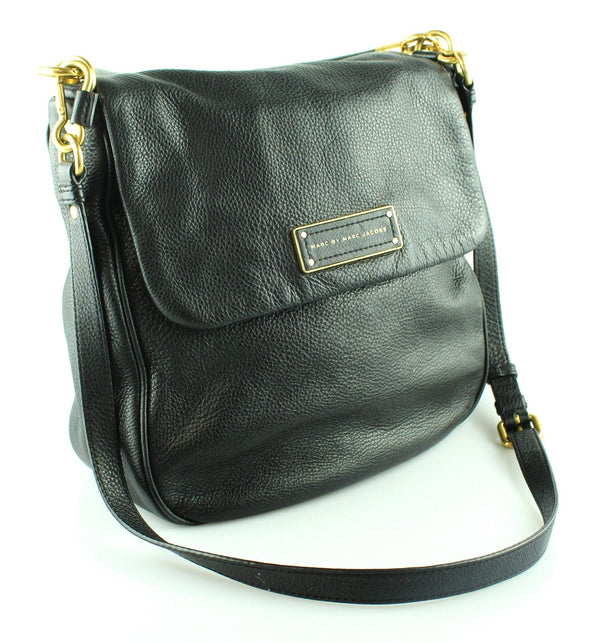 Marc By Marc Jacobs Black Leather Too Hot To Handle Laetitia Hobo GH