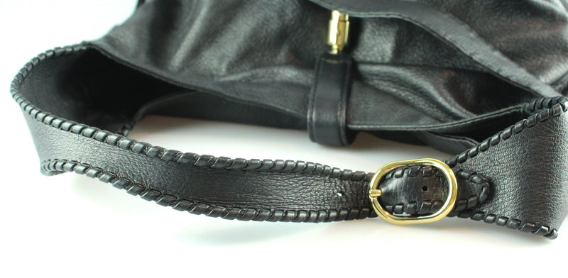 Gucci Black Leather Jackie GHW