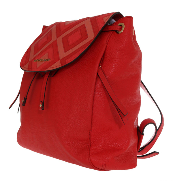 Michael Kors Red Riley Leather Backpack