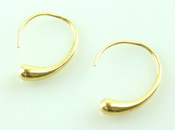 Tiffany 18K Gold Teardrop Hoop Earrings RRP €1800