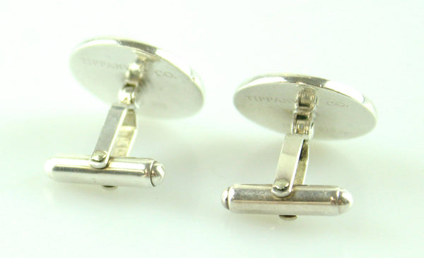 Tiffany & Co Rare Sterling Silver And Enamel Golfer Cuff Links