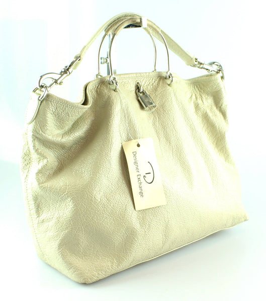 Mulberry Hetty Cream Patent Leather Tote/Shoulder Bag