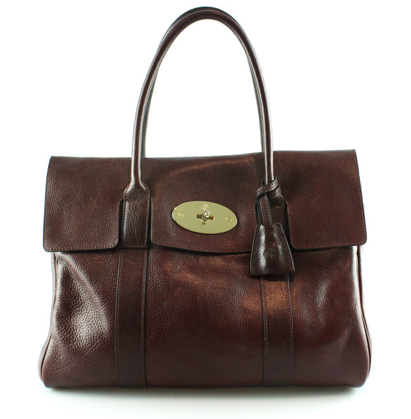 Mulberry Oxblood Natural Leather Heritage Bayswater RRP €1295
