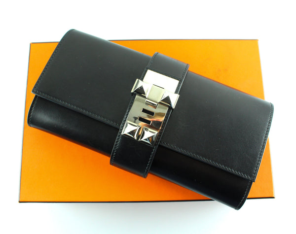 Hermes Medor Clutch Black Box Leather (RRP €4500)