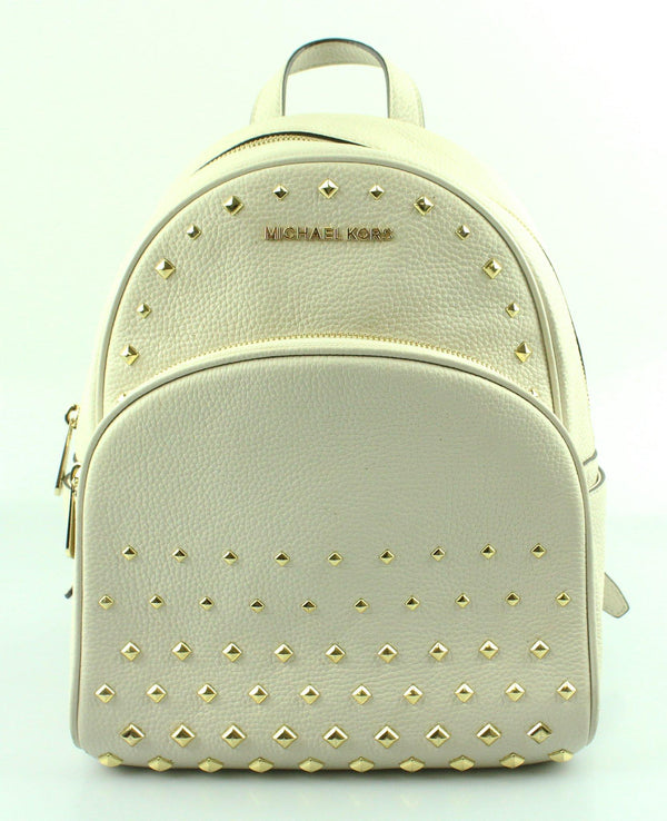 Michael Kors Off White Abbey Leather Backpack