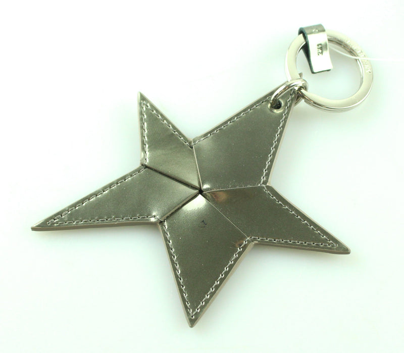 Mulberry Silver Patent Star bag Charm/Key Ring