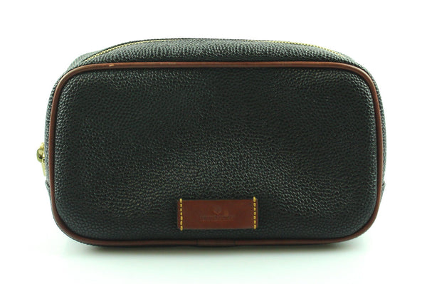 Mulberry Scotchgrain Wash Bag Cognac Small